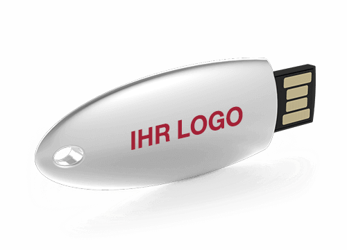 Ellipse - USB Stick mit Logo